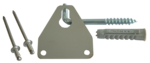 Wall mount assembled for humimeter RH1 humidity measuring device