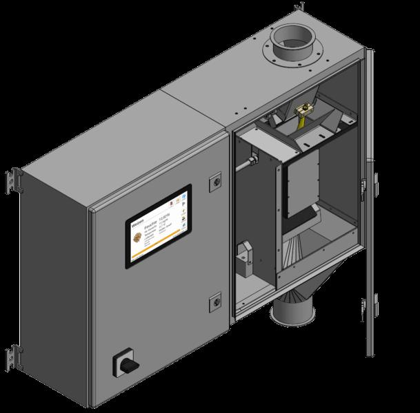 Automatyczny system ciągłego pomiaru wilgotności całego ziarna wobiegu kontrolnym on-line FSO