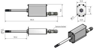 Cyfrowy transmiter wilgotności itemperatury powietrza LF-TD 90