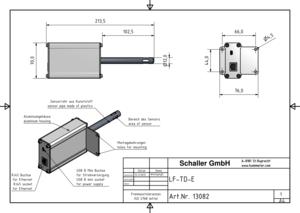 Przemysłowy przetwornik pomiarowy wilgotności itemperatury zportem Ethernet RJ45