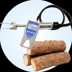 Miernik wilgotności do pomiarów drewna o dużej zawartości wody