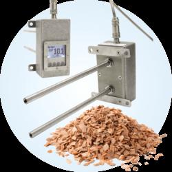 Przekaźnik wilgotności z czujnikiem do biomasy Universal