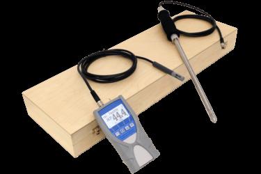 Termohigrometr ręczny zsondą naprzewodzie